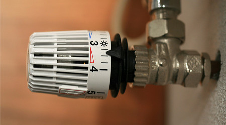 Thermostat an Heizung