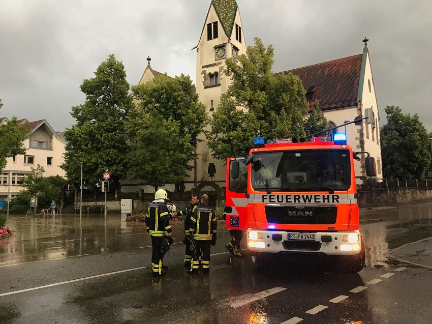 Unwetter in Reutlingen